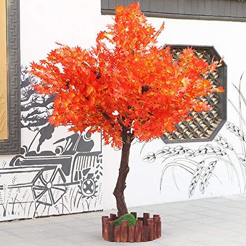 TTIK Casi Natural Simulación Árbol De La Flor, Arce Rojo Grande Arbustos Artificiales Y Topiarios Árbol Artificial Seda Boda Fondo Decoración De La Pared 1.8M,A,150x180cm