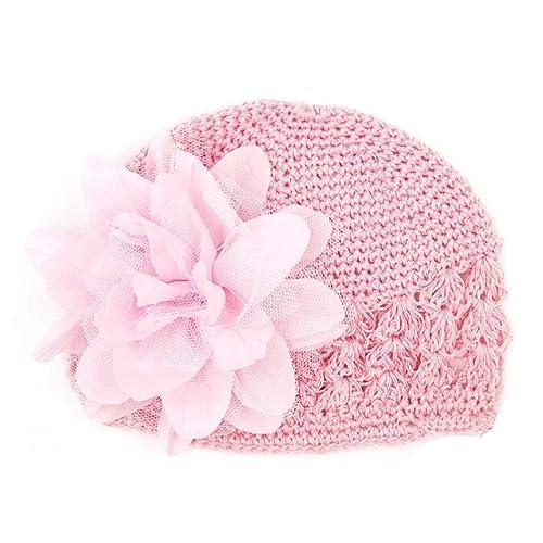 1609fd52f10 Felicy Bonnet Bébé Fille Garçon Bonnets Coton Crochet Papillons Chapeau  Unisexe Bébé Naissance Tricot Hat Cap