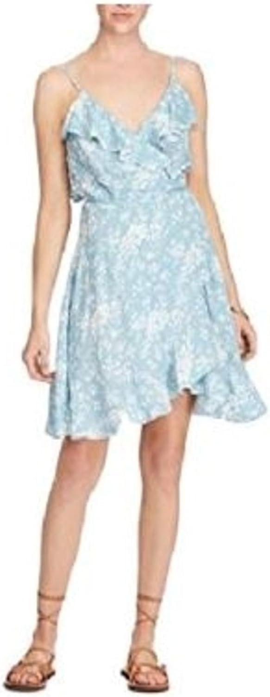 Denim & Supply Ralph Lauren Womens Floral Print Wrap Flounce Dress