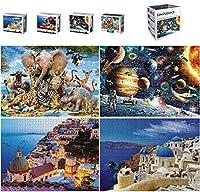大人用ジグソーパズル 1000ピース 大人用宇宙パズル パズルおもちゃセット 室内活動用 大人用ゲーム ファミリーパズル 子供パズル 4 in 1