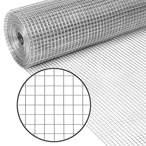 Best Choice Products 4x50ft Hardware Cloth, 1/2in 19-Gauge Galvanized Wire Fence, Double-Zinc Mesh Netting Roll, Welded Cage for Chicken Poultry Coop, Animal, Garden Protection