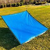 Geovne Toldo Vela de Sombra para Decoración de Jardín,Malla Sombreadora Azul,Solar Sombra Paño Duradera,Malla de Bloqueo Solar,para Patio,Exteriores,Tamaño Personalizable (3x5m)
