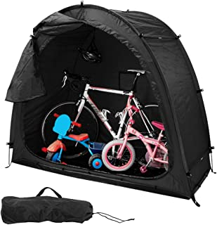 Gecheer Bike Tent Bike Storage Shed 190T Bicycle Storage Shed with Window Design for Outdoors