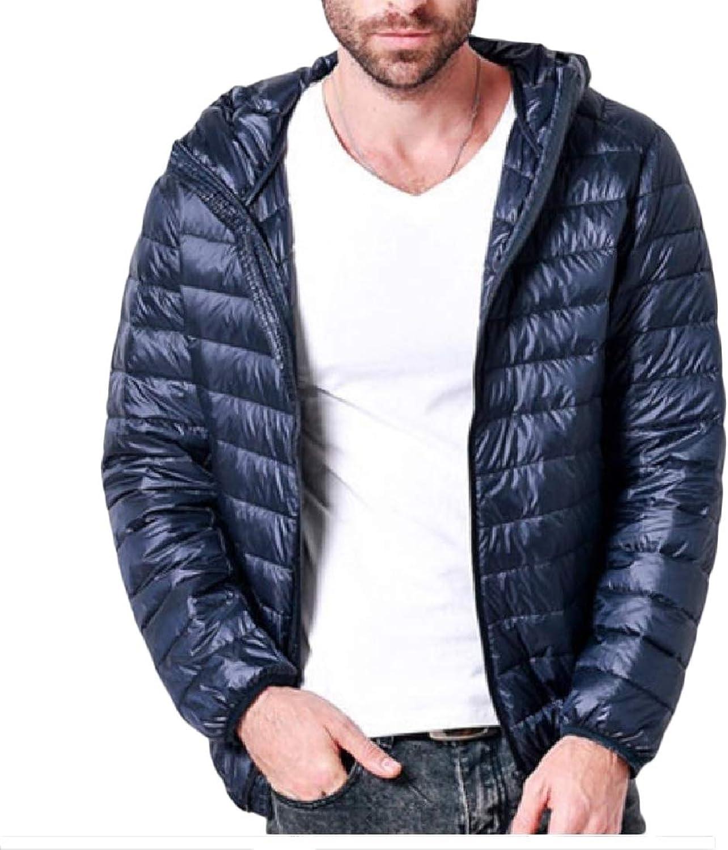 7f36a995484 Beeatree Men Ultra Lightweight Hooded Puffer Puffer Puffer Packable Fashion Down  Coats f088c7