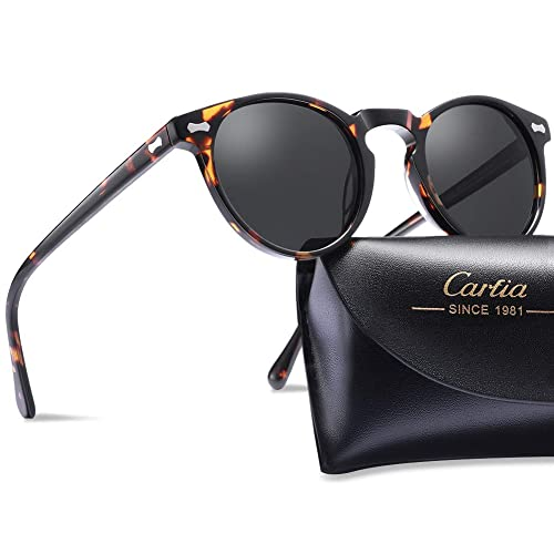 0ca693622e Carfia Vintage Polarized Sunglasses for Women UV400 Protection Lens Acetate  Frame