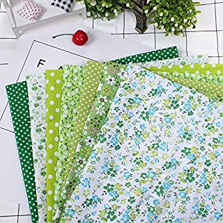 OKJK 7 Pcs Fleur Imprimé Coton Tissu Scrapbooking Tissu DIY Fait Main Patchwork Matériel pour Couture Couture Accessoire (...