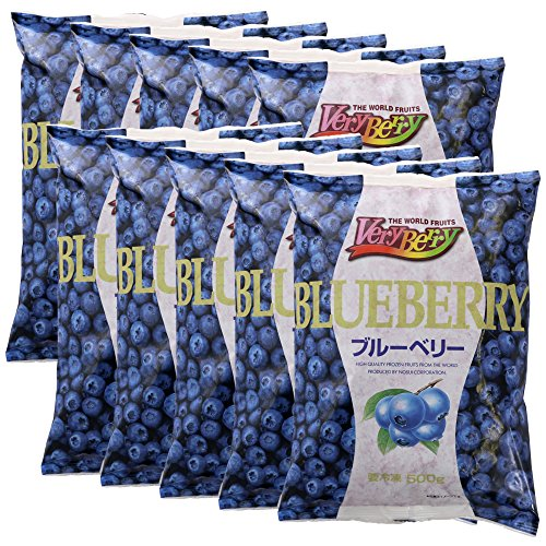 【冷凍】 業務用 フルーツ VeryBerry 冷凍 ブルーベリー 500g ×10袋 セット ノースイ 冷凍フルーツ