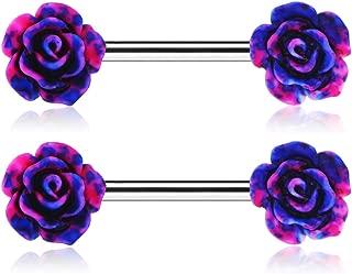 flower nipple rings