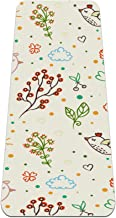 BestIdeas Yoga Mat Doodle Bloemen Vogelachtergrond voor Yoga, Pilates, Vloer Oefening Mannen Vrouwen Meisjes Jongens Kinde...