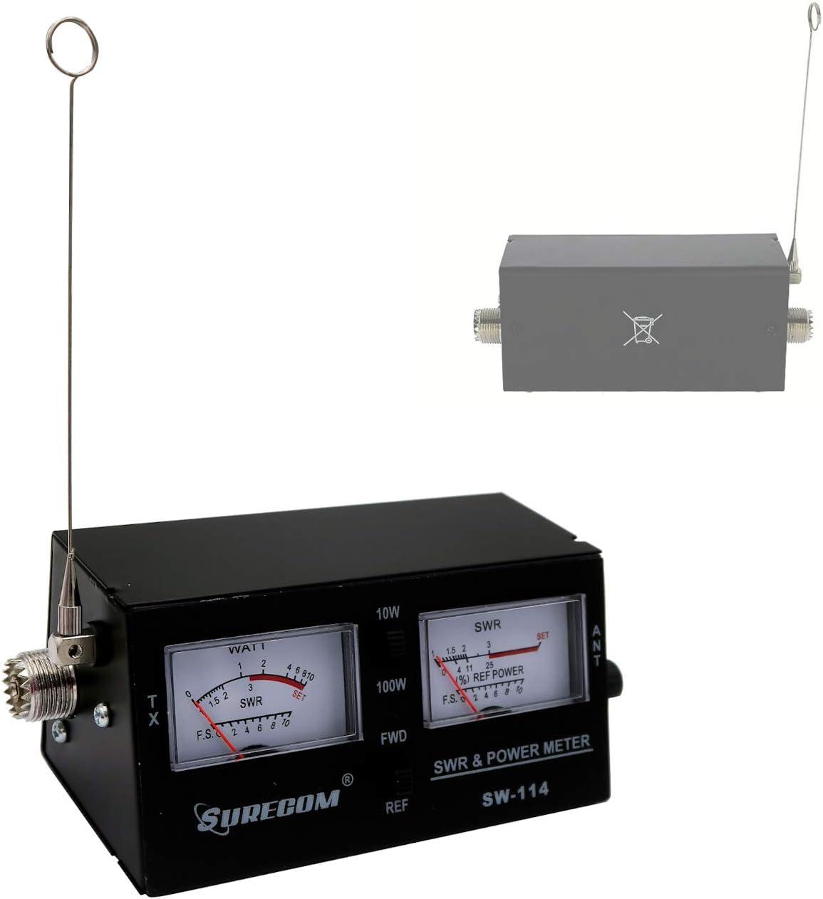 Mcbazel Surecom SW-114 SWR/RF/Field Medidor de Prueba de Potencia
