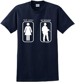 Husband Boyfriend Gift Your Woman My Woman Soldier T-Shirt