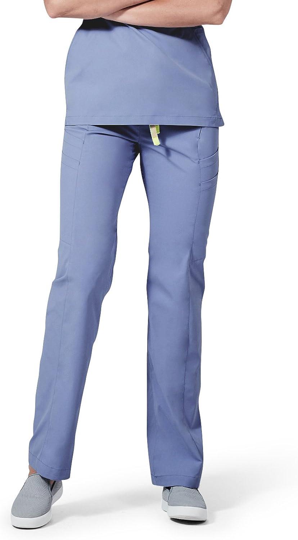 Medelita Women's Nursing Medical Scrubs Pants   Delta   Stretch, with 7 Pockets