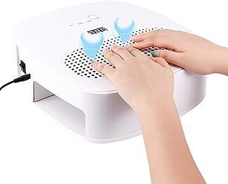 120W 2 en 1 Aspirador de uñas Lámpara LED UV para uñas con 2 ventiladores Profesional Colector de polvo de uñas Máquina extractora de limpieza de manicura Secador de uñas de acrílico