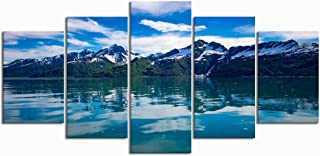 PENGTU Paintings Modern Canvas Painting Wall Art Pictures 5 Pieces, Various Alaskan Landscapes,Wall Decor HD Printed Posters Frame