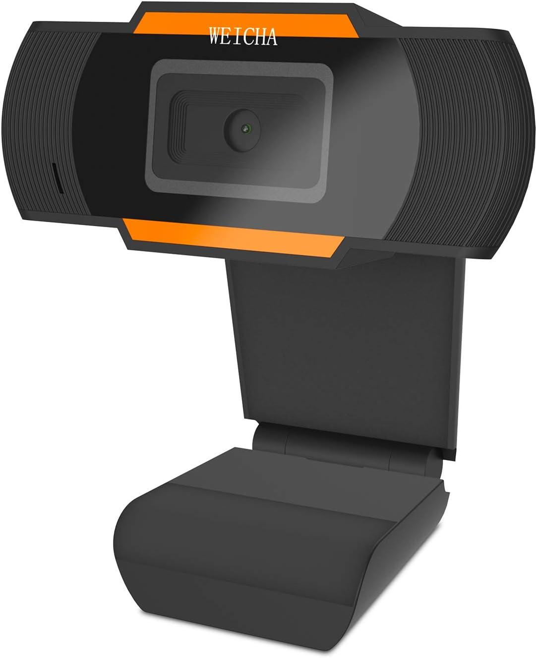 1080P HD Webcam with Microphone, Webcam for Gaming Conferencing, Laptop or Desktop Webcam, USB Computer Camera for Mac, Free-Driver Installation Fast Autofocus Orange