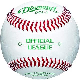 Diamond Dol-1 Official League Leather Baseballs 12 Ball Pack