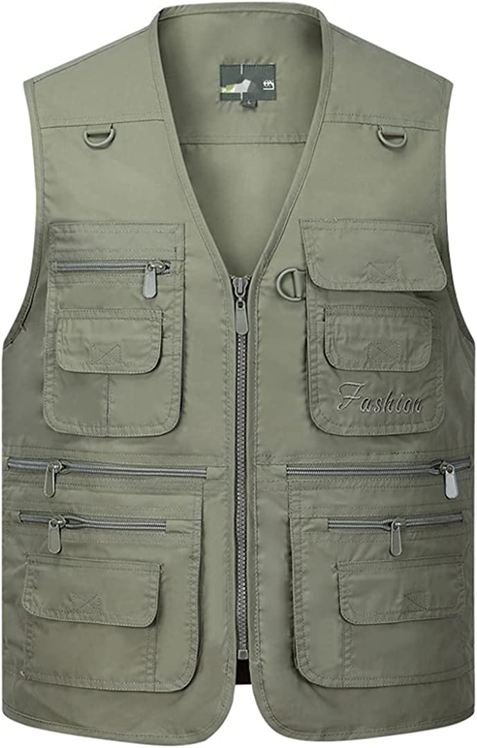 DFLYHLH Men's Summer Quick 5% OFF Dry Thin Pockets Many Vest Plus with Overseas parallel import regular item