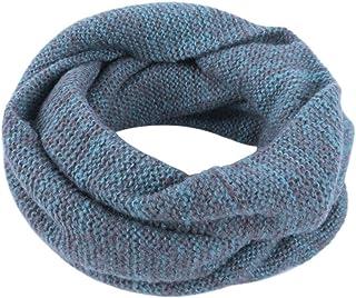Topdo Moda Bufanda Scarf de Punto para Hombres Bufanda Tipo En Cuello Circular Invierno Bufanda Caliente Unisex para Mujer y Hombre,Felpa,Azul(144 * 26cm)