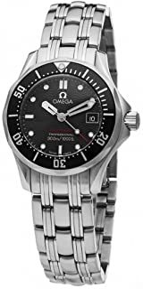 Women's 212.30.28.61.01.001 Seamaster 300M Quartz Black Dial Watch