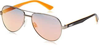 Puma Aviator Sunglasses for Men - Orange Lens, PJ0027S-005-52