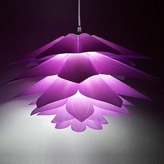 Myfei DIY Lotus Abat-jour suspendu - Décoration de salle de bain en polypropylène - Lampe moderne suspendue LED - Abat-jou...