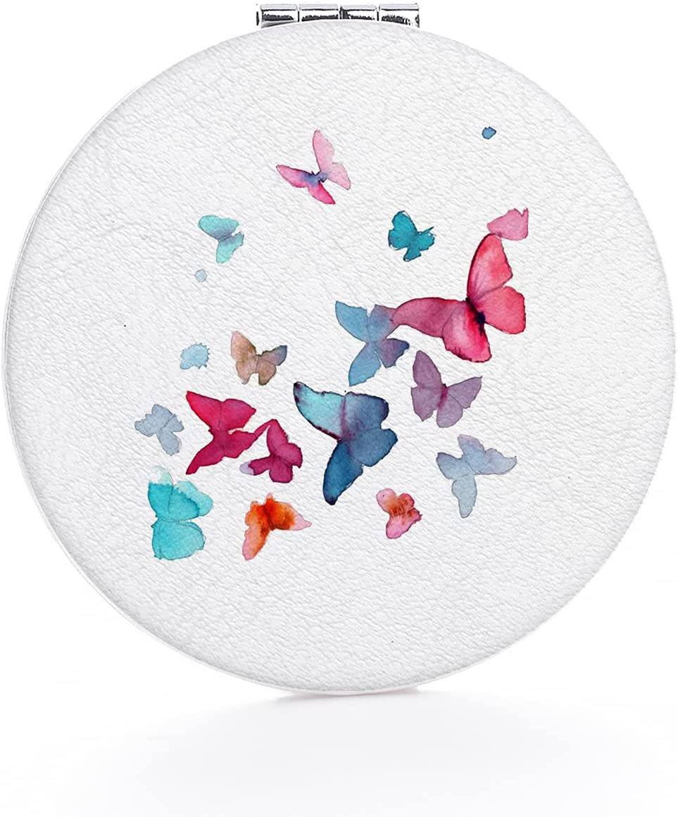 Vanity Mirror Beautiful Watercolor Butterfly Shatterproof Sales for sale SEAL limited product Design
