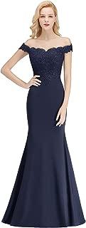 MisShow Off-Shoulder Mermaid Long Evening Formal Prom Dresses for Women