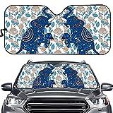 COEQINE Parasol para coche, diseño de elefante, protector de rayos UV, plegable, para coches, sedán, camiones, furgonetas