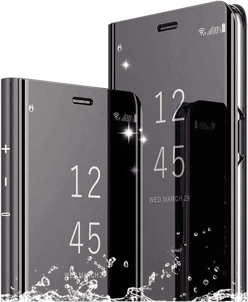 DAYNEW Funda para Sony Xperia XZ3,Sony Xperia XZ3 Funda Desmontable Ultra-Delgado,360 °Protection Inteligente Espejo tirón del Caso Cáscara para Sony Xperia XZ3-Negro