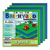Brickyard Building Blocks 4 Baseplates, Improved Design 10 x...