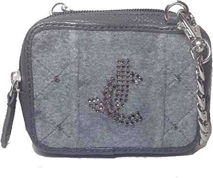 1a35326116936 Juicy Couture JC Prep Quilted Velour Mini Bag Wristlet