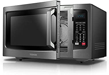 Toshiba EC042A5C-BS Countertop Microwave Oven with Convection, Smart Sensor, Sound On/Off Function and LCD Display, 1.5 CU.FT