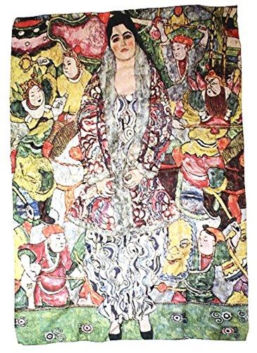 We love Scarves Art Collection Schal Tuch Accessoires #Gustav Klimt portrait of friederike maria beer 100x130 cm