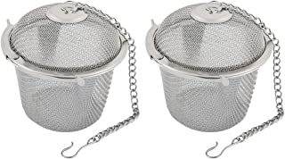 Saim Tea Infuser Ball Mesh Tea Balls Strainers Stainless Steel Cooking Infuser Rust Resistant with Chain Hook for Loose Le...