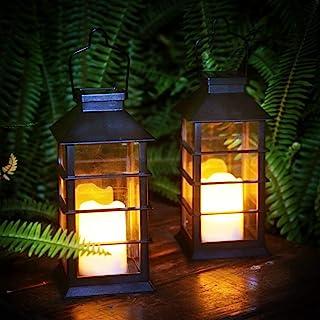 Lanterne solaire LED Bougie sans flamme Bougie de jardin Lanterne solaire d'extérieur 2pcs Lumière de jardin étanche Cadea...