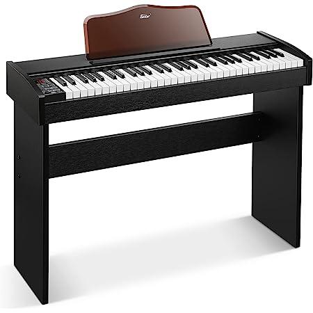 Eastar EK-10S Clavier Piano, 61 touches de taille standard Upright Clavier de Piano numérique pour les débutants avec pédale de sustain et support de livre de musique, cadeau essentiel