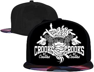 Men's Crooks & Castles Men's and Women's Trucker Hats, Adjustable Hip Hop Flat-Mouthed Baseball Caps