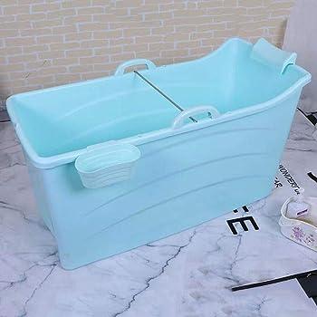 Color : Blue, Size : 110 * 59 * 57cm Ba/ñeras con jacuzzi Bid/és Ba/ñeras Ba/ñera Plegable para ni/ños ba/ñera Grande para Adultos ba/ñera para beb/és ba/ñera para beb/és en el hogar