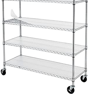 BestOffice 48-Inch by 18-Inch Clear Plastic Shelf Liners for Wire Shelving, 4-Pack