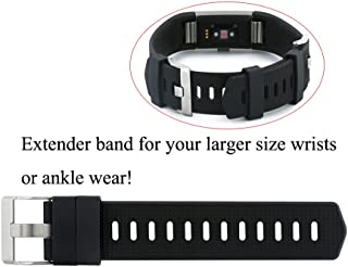 Extender Band Compatible Fitbit Charge 2/3/Fitbit Charge/HR Fitbit Versa/Versa 2 Fitness Tracker Wristbands Fitness Tracker Wristbands - Designed for Larger Size Wrists or Ankle Wear, Buckle Closure