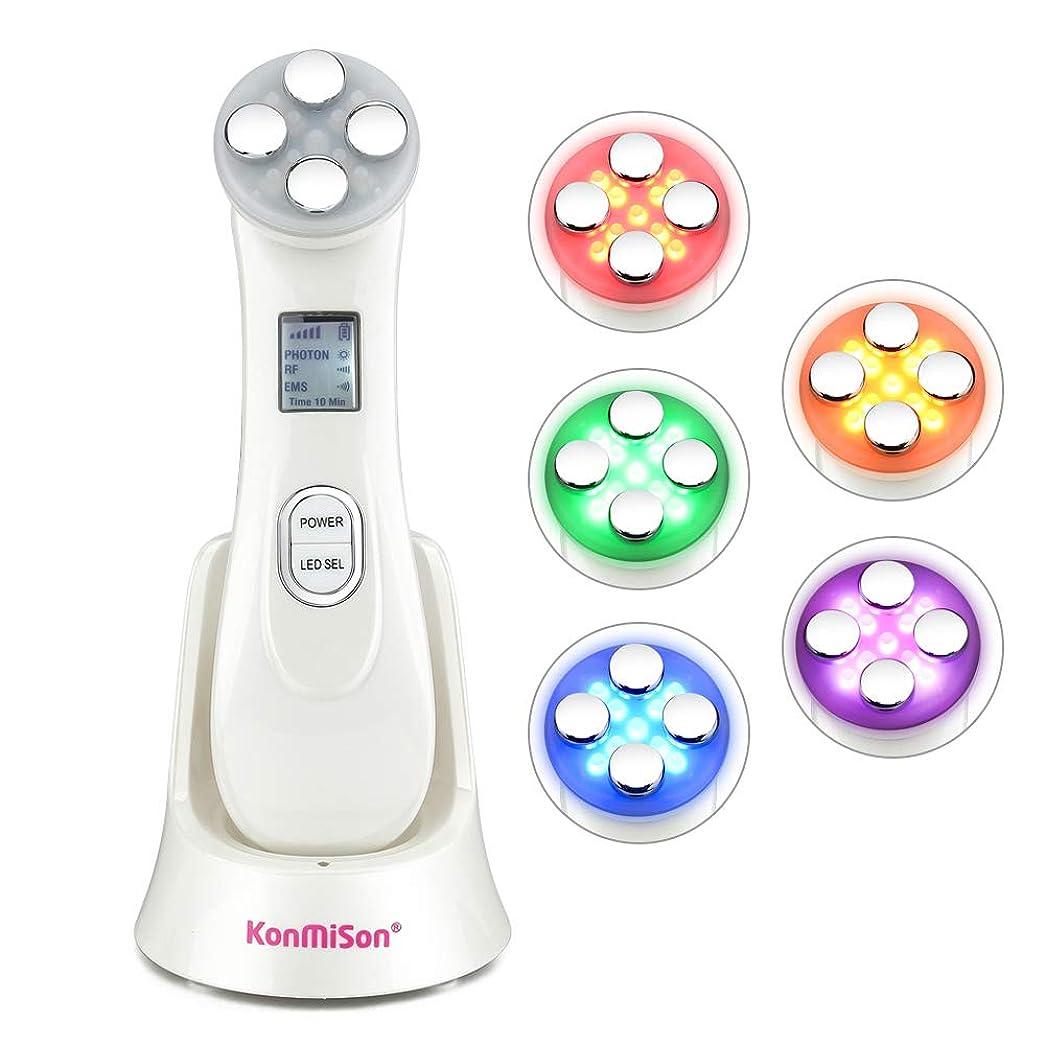 窓安心知性5In1 RF&EMSラジオメソセラピーエレクトロフェイス美容ペン無線周波数LED光子顔肌の若返りリムーバーリンクル