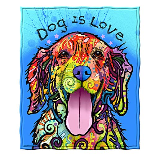 Dawhud Direct Fleece Throw Blanket by Dean Russo (Dog is Love)