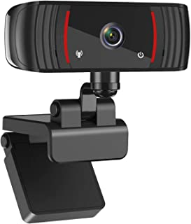 1080P Webcam with Microphone, Web Cam USB Camera, Computer HD Streaming Webcam for PC Desktop & Laptop w/Mic, Wide Angle L...