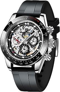Pagani Design - Reloj mecánico multifunción para hombre, resistente al agua, para negocios, casual, de acero inoxidable, reloj automático, para hombre