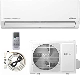 Emerson mini split Air Conditioner Ductless System 12000 BTU 17.9 SEER 115 V Inverter with 1 Ton Heat Pump, Wall Mounted Full Set 10FT Installation Kit