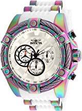 Invicta Men's Bolt Stainless Steel Quartz Watch with Silicone Strap, White, 26.4 (Model: 25530)