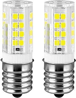 LUVVITT Ceramic E17 LED Bulb for Microwave Oven Appliance, 40W Halogen Bulb Equivalent, Daylight White 6000K, Pack of 2