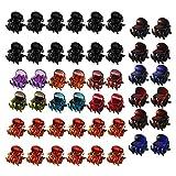 Clips de Garras de Pelo de Plástico, 48 Piezas Mini Pinzas de Pelo, Pinza...