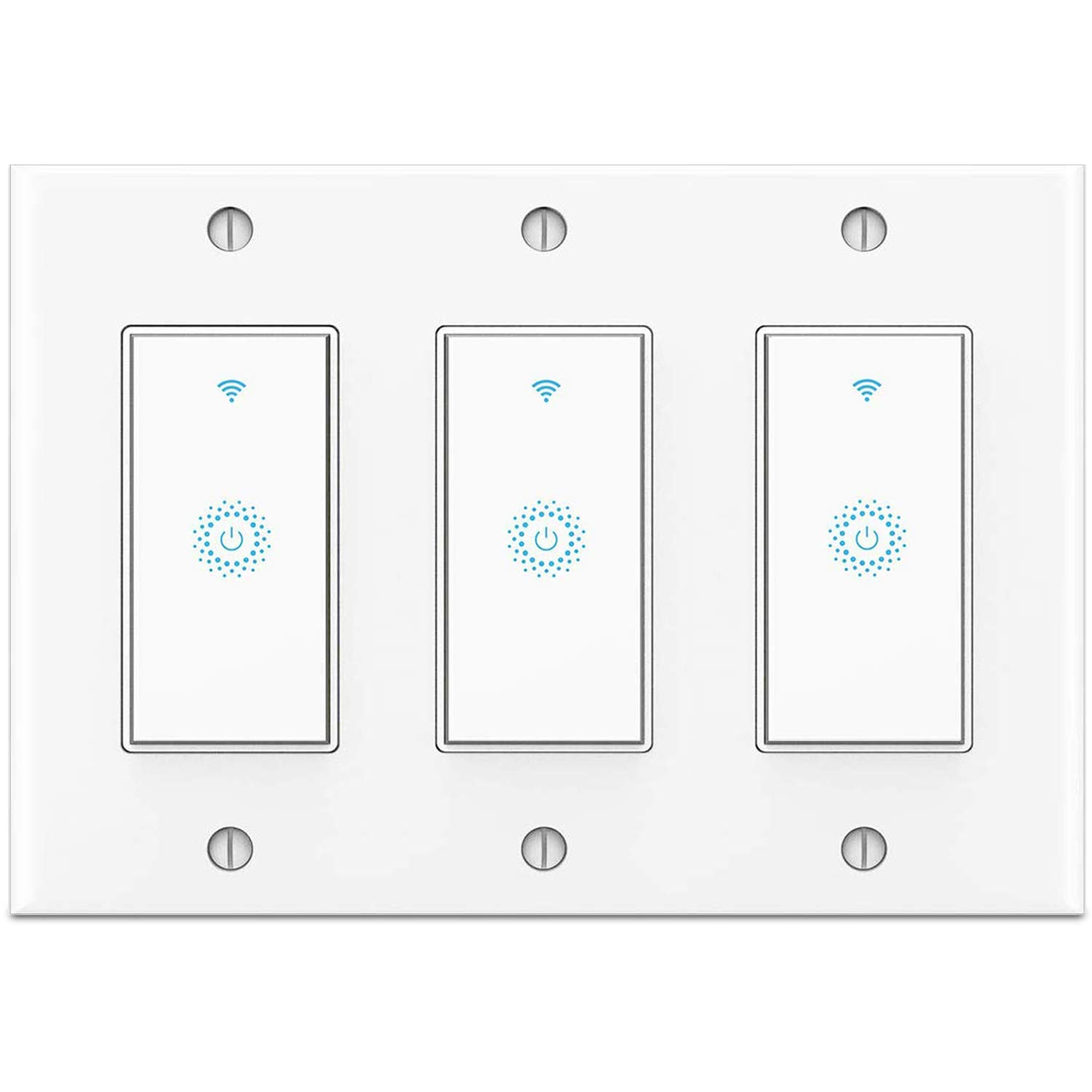 Buy Smart Switch 3 Gang Not 3 Way Switch Smart Wifi Light Switch Work With Alexa Google Home And Ifttt Voice And Remote Control No Hub Required Single Pole Only Online In Germany