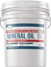 Mineral Oil (5 Gallon) by Earthborn Elements, Resealable Bucket, Food & USP Grade, For Cutting Boards, Butcher Blocks, Counter Tops, Wooden Utensils